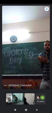 Sports Day Celebration on 9-12-2020